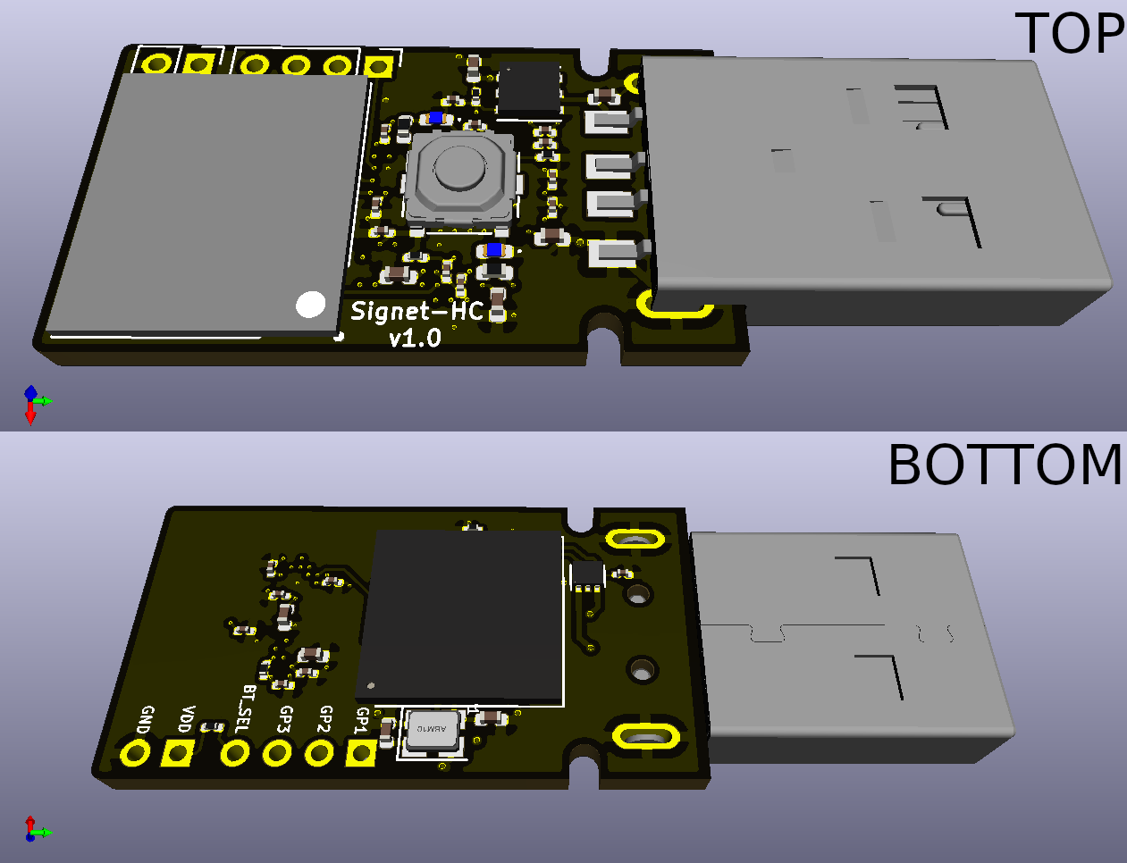 Development PCB top and bottom